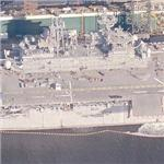 Decommissioned amphibious assault ship USS Belleau Wood (LHA-3) (Birds Eye)