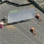 Temporary outdoor movie theater