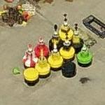 Ocean buoy storage yard (Birds Eye)