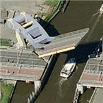 Unusual diagonal drawbridge