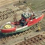 Buoy tender on the shipway (Birds Eye)