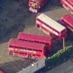 Double decker bus depot