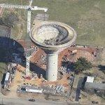 Large water tower under construction (Birds Eye)