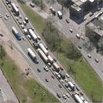 Traffic on I95 in the Bronx (Birds Eye)