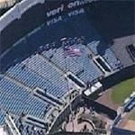 US Flag above Yankee Stadium