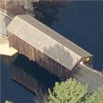 Old wooden covered bridge