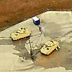 Bradley Fighting Vehicles on the move after water obstacle (Birds Eye)