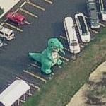 Dinosaur at a Limo Lot (Birds Eye)