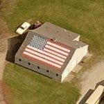 Rooftop US flag (Birds Eye)
