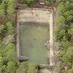 Abandoned base pool at former Bronson Field (Birds Eye)