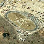 Race in progress at Waterford Speedbowl (Birds Eye)