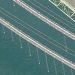 New Tacoma Narows eastbound bridge under construction (Birds Eye)