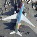Continental Airlines Boeing 777-224/ER in 'Peter Max' livery (Bing Maps)