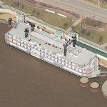 Casino Aztar riverboat (Birds Eye)