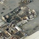 Fire gutted dry cleaning business (Birds Eye)
