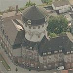 Water tower Mannheim (Luzenberg) (Birds Eye)