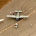 Grumman F6F Hellcat towed into place