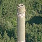 Tall lone smokestack (Birds Eye)