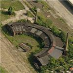 Abandoned roundhouse and turntable