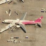 Delta Airlines Breast Cancer Awareness 757 (Birds Eye)