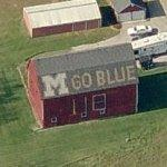 "Michigan ""Go Blue"" barn (Birds Eye)"