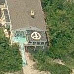 Peace Sign on Roof