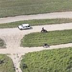 Border Patrol Agents on patrol in Texas (Birds Eye)