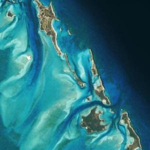 "Johnny Depp's ""Little Hall's Pond Cay"" island (Bing Maps)"
