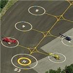 Helicopter parking at the Catalan motorcycle Grand Prix