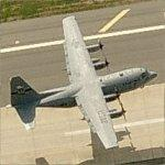 C-130 Hercules Departing Little Rock AFB (Birds Eye)