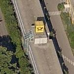 Deutsche Post Logo-Cube at Letter Sorting Centre Reutlingen (Birds Eye)