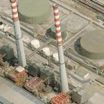 Setúbal Thermal Power Plant's twin chimneys