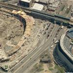 New Yankee Stadium being built (Birds Eye)