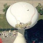 Baseball water tower (Birds Eye)