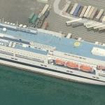 Ferry Splendid in Genova (Bing Maps)
