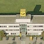 Deutsche Post Logo-Cube at Letter Sorting Centre Kassel