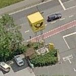 Deutsche Post Logo-Cube at Letter Sorting Centre Bamberg (Birds Eye)