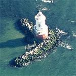 Stamford Harbor Ledge lighthouse (Birds Eye)
