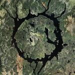 Lake Manicouagan Reservoir (Bing Maps)