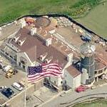 Giant US flag at the Bayonne Golf Club (Birds Eye)