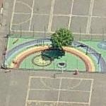 Rainbow mural (Bing Maps)