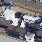 USS Florida Ohio Class Balistic Missile Submarine in drydock (Bing Maps)