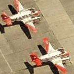 US Navy Beechcraft T-44C Pegasus trainers (Birds Eye)