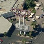 'Stardust' Hotel & Casino sign at night (Bing Maps)
