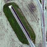 Rail siding bunkers (Bing Maps)