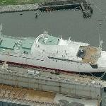 Only U.S. Civilian Nuclear Ship (NS) Savannah (AOR-4) (Birds Eye)