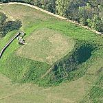 Ocmulgee Indian Mounds (Birds Eye)