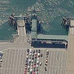 Waiting to get on the Bremerton ferry (Bing Maps)