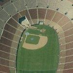 Baseball field at the LA Memorial Coliseum