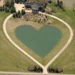 Heart shaped pond (Birds Eye)